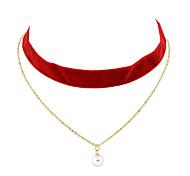Gothic Wide Velvet Choker Necklace