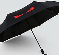 Красный / Белый / Желтый Складные зонты Солнечный и дождливой Pезина Lady / Мужчины