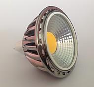 5 GU5.3(MR16) Lâmpadas de Foco de LED MR16 1 COB 450 lm Branco Quente Decorativa AC 12 V 1 pç