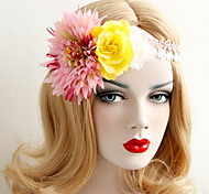 Flower Bohemia Beautiful Rose Flower Wreaths Headband for Lady Wedding Party Holiday Hair Jewelry