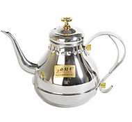 Stainless Steel Coffee Kettle Narrow Court Teapot