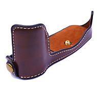 dengpin® Пу кожа половина камера кейс сумка крышка подходит для Olympus PEN-F penf (ассорти цветов)