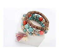 Strand Bracelets / Wrap Bracelets 1pc,White / Blue / Purple Bracelet Vintage Circle 514 Resin Jewellery
