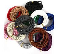 beadia 3мм круглый плетеный пу кожаный шнур веревочки для поделок ювелирных изделий браслета ожерелья корабля изготовления (5mts)