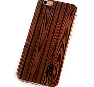 Simulation Wood Creative Arts Soft TPU Material Package Phone Shell for iPhone 5/5S/SE/6/6S/6S Plus/6S Plus