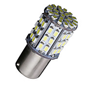 2X Ba15s 1156 Bright White 64 SMD Car RV Tail Brake Backup Reverse LED Bulbs 12V