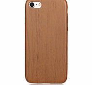 Wood Slim Soft PU Leather Material Phone Case for  iPhone 7 7plus 6S 6plus SE 5S