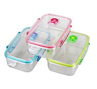 pc marca yooyee cajas de almacenamiento de vacío hermético de plástico transparente con lockinglids