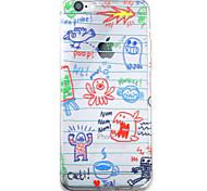 Graffiti HD Pattern Embossed Acrylic Material TPU Phone Case For iPhone 7 7 Plus 6s 6 Plus
