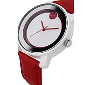 Fashion Brand Sinobi S8109 wristwatches Women's Fashionable Quartz Wrist Watch with Faux Leather Band (red)
