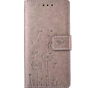 Dandelion Embossed PU Leather Material Leather  for Huawei P8 P8 Lite P9 P9 Lite Mate 8