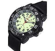Hombre Reloj Deportivo / Reloj Militar / Reloj de Moda / Reloj de Pulsera Cuarzo Noctilucente Tejido Banda Cosecha / Cool / CasualNegro /