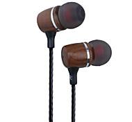 Premium Genuine Wood In-ear Noise-isolating Headphones Earbuds Earphones Black walnut Wood In-ear Headsets with Mic