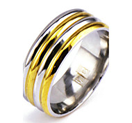Men's Silver Gold Alloy Band Ring