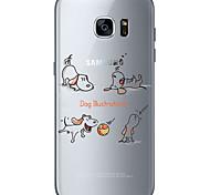Для Samsung Galaxy S7 Edge С узором Кейс для Задняя крышка Кейс для С собакой Мягкий TPU SamsungS7 edge / S7 / S6 edge plus / S6 edge /