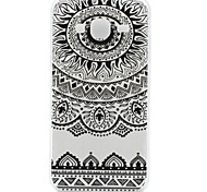 High Quality TPU Black Flowers Pattern Soft Phone Case for Samsung Galaxy J3