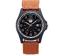 Herren Armbanduhr Quartz / digital Kalender Stoff Band Bettelarmband Schwarz Marke