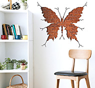 3DWall Stickers Wall Decals Butterfly Feature Removable Washable PVC