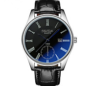 High Grade Calendar Blue Glass Waterproof Watch