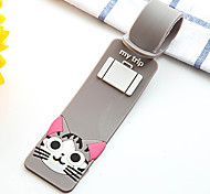 Luggage Tag for Luggage Accessory Silica Gel-Gray Yellow Red Green Blue