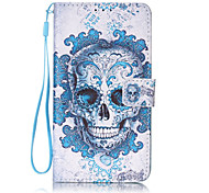 Skull Pattern PU Leather Lanyard phone Case For LG K7 LG LS775/STYLUS2