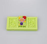 Square shape beautiful silicone mold silicone muffin pan soap mold cake decoration set
