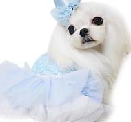 Perros Vestidos Azul / Rosado / Morado Ropa para Perro Primavera/Otoño Flores / Botánica / Corazones Moda