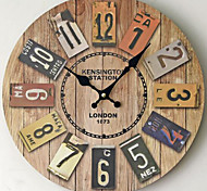 Modern/Contemporary / Casual Family Wall ClockRound Metal 35*35*5 Indoor/Outdoor / Indoor / Outdoor Clock
