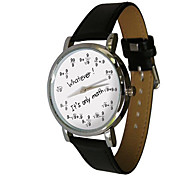 Fashion personality design European style digital formula letter vintage quartz Wrist watch Unisex