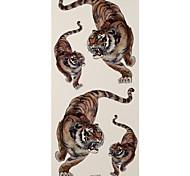 1 Tatuajes Adhesivos Series de Animal tigers flash de tatuaje Los tatuajes temporales
