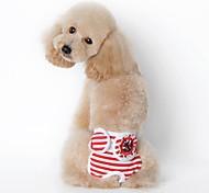 Собаки Брюки Одежда для собак Лето Весна/осень Морской На каждый день Черный Красный Синий