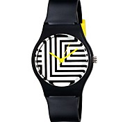 Children's Fashion Zebra Pattern Plastic Watchband Casual Wrist Quartz Watch