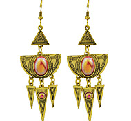 Rhinestone Triangle Shape Spike Big Chandelier Earrings