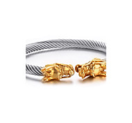 Men's Cuff Bracelets Wire Stunt Gragon Stainless Steel Gold-Plated Fashion Punk Style Daily  Halloween (1Pc) Christmas Gifts