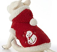 Lovely Keep Warm Snowmen Patterns Pet Coat