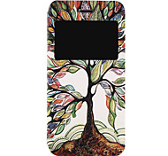 Tree Pattern Fenestration PU Material Phone Flip Case with Window for iPhone 7 7 Plus