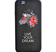 Zebra Pattern Silk Material Pattern TPU Phone Case For iPhone 6s 6 Plus
