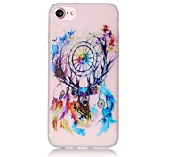 Glow in the Dark Dream Catcher Giraffe Pattern Embossed TPU Material Phone Case for  iPhone 7 7 Plus 6s 6 Plus SE 5s 5