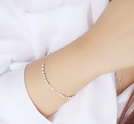 Bracelet Chain Bracelet Sterling Silver Circle Fashion Casual Jewelry  Silver1pc Christmas Gifts
