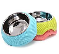 Cat / Dog Bowls & Water Bottles Pet Bowls & Feeding Waterproof / Portable Green / Blue / Pink Plastic / Stainless Steel