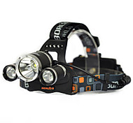 1000LM 3x XML T6 White 2R2 UV LED Headlamp Head Light Torch Charger