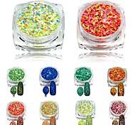1pcs 3g 3D New Nail Glitter Powder Beauty Mixed Colors Cheese Glitter Pigment for Nails Tips Nail Art Craft SN33-40