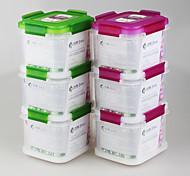 yooyee marca nueva PP de la categoría alimenticia de diseño 3layer contenedores apilables 600ml compartimiento de almacenamiento de