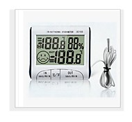 WINYS A Fil Others Indoor and outdoor portable hygrometer with clock function Blanc