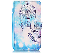Blue Campanula Pattern PU Leather Lanyard phone Case For LG K7 LG LS775 STYLUS2