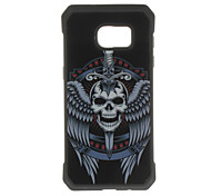 Skull Pattern Metal Plate Inlay TPU Back Case For Samsung Galaxy S7 S7E S6 S6E S6 edge plus S5