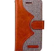 Para Funda iPhone 7 / Funda iPhone 7 Plus Cartera Funda Cuerpo Entero Funda Un Color Dura Cuero Sintético Apple iPhone 7 Plus / iPhone 7