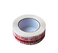 Eight Red Words White Background Warning Tapes in One Box