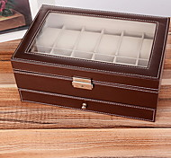 Fabric Black European Twelve Watch Case Multi-Function Drawer Jewelry Boxes