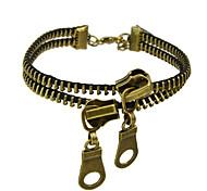 Antique Gold Color Zipper Shape Chain Bracelet